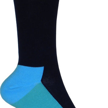 Five Color Crew Socks in Blue