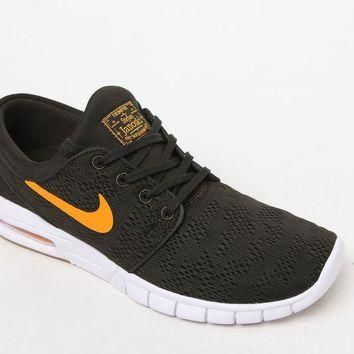 Nike SB Stefan Janoski Max Knit Army and Orange Shoes at PacSun.com