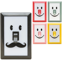 Smile Switch Portable LED Wall Night Light