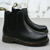 Dr. Martens Chelsea Boots Fashion Winter Waterproof Boots Martin Leather Boots Shoes G-A-HXYDXPF