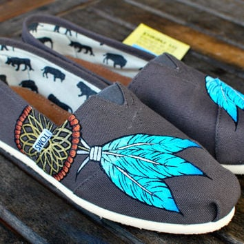 Native American Dream Catcher TOMS shoes by BStreetShoes on Etsy