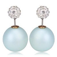 Gum Tee Mise en Style Tribal Earrings - Crystal Mix Baby Blue