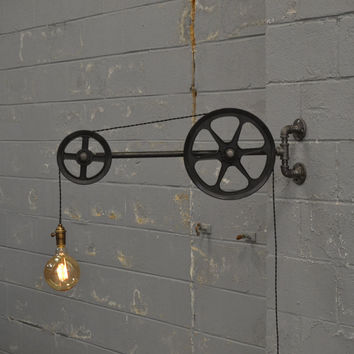 Large Wall Pulley Light
