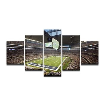 HD Printed Painting Dallas Cowboys Football Sports Square Painting Room Decoration Poster Canvas  Framed Art