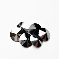 Six Jet Hematite 1122 8mm Unfoiled swarovski Pointed Back Rivoli