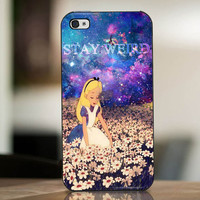Stay Weird Alice In Nebula - cover case for iPhone 4|4S|5|5C|5S|6|6 Plus Note 2|3 Samsung Galaxy s3|s4|s5 Htc One M7|M8