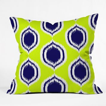 Rebecca Allen So Lime Throw Pillow