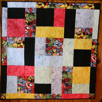 AVENGERS  Quilt Finished Completed handmade QuiltED Wallhanging, Baby Quilt, Lap Quilt