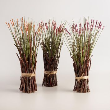 Mini Harvest Grass Stacks Set of 3