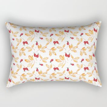 Floral watercolor Rectangular Pillow by Angelina May