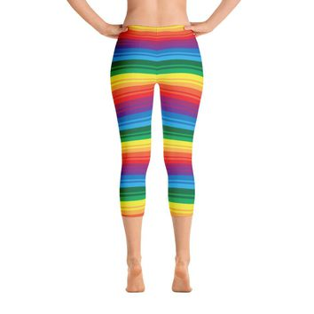 PRIDE, RAINBOW Capri Leggings