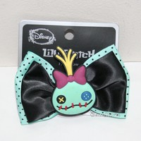 Licensed cool Disney Lilo & Stitch Scrump Rubber Ribbon Bow Tie Hair Clip Pin Costume Dress Up