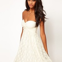 ASOS Pretty Lace Skater Dress at asos.com