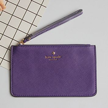 Kate Spade Practical Joker 2017 female new Macaron color card package tide package Purple