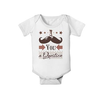 I Mustache You a Question Baby Romper Bodysuit