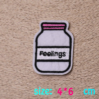 2016year New arrival 1PC Milk bottle Iron On Embroidered Patch For Cloth Cartoon Badge Garment Appliques DIY Accessory