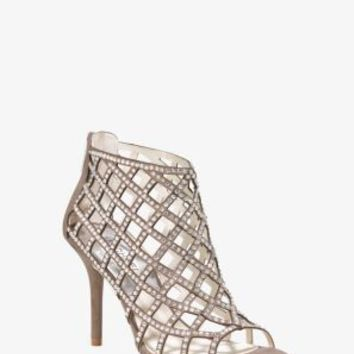 Yvonne Crystal and Suede Cage Sandal | Michael Kors