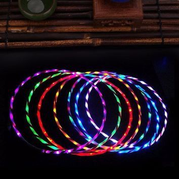 "Super Bright 3/4"" High Strength LED Hula Hoop Multicolor with Long Lasting Lithium Ion Battery"