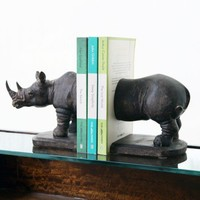 Rhino Book Ends - Home Accessories - Home Accessories