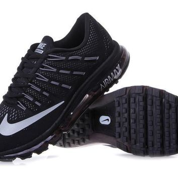 """NIKE"" Trending Fashion Casual Sports Shoes AirMax Toe Cap hook section knited Black W"