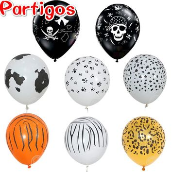 50pcs customized balloon 3.2g 12'' Printing Cow paw Latex Balloons Helium animals Ball Birthday Party Decor supplies Latex