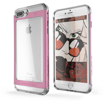 iPhone 7+ Plus Case, Ghostek Pink Cloak 2.0 Pink Series w/ Screen Protector | Aluminum Frame