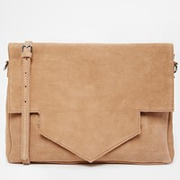 Pieces Leah Suede Oversized bag