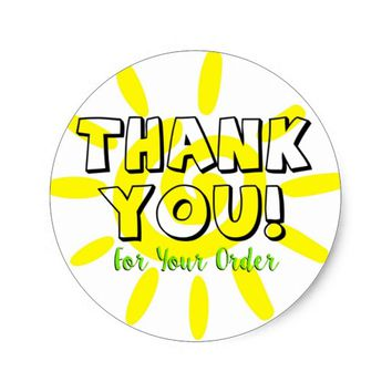 Thank Your Customers Classic Round Sticker