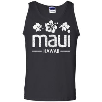 be1243050898d Maui Hoodie - Hawaii Flowers Distressed Print Tank Top