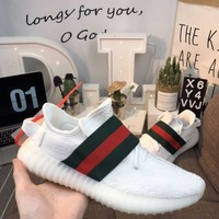 Gucci X Yeezy Boost 350 V2 White Shoes 36 45   Best Deal Online