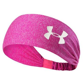 DCCKB62 under Armour Sport Crochet Headwrap Headband Warmer Head Hair Band Rose red