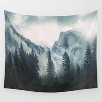 "Cross Mountains Wall Tapestry by ""CVogiatzi."