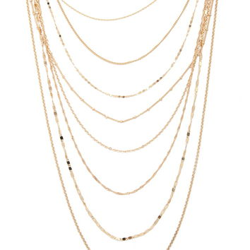Mixed Chain Layered Necklace
