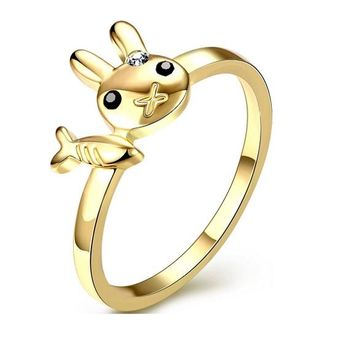 Rabbit And Fish Ziron Rings For Women