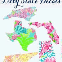 Lilly Pulitzer State Decal - 5 Inches