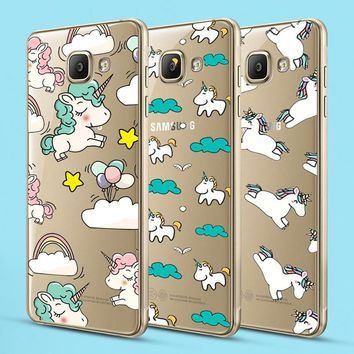 Unicorn for iPhone X 8 7 5 5C 5S SE 6 6S Plus Case for Samsung Galaxy S5 S6 S7 Edge S8 Plus J3 J5 J7 A3 A5 2016 2017 Prime