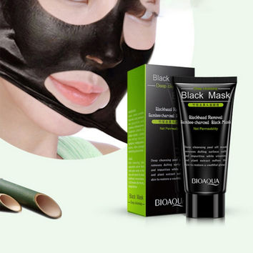 Black Head Remove Shrink Pores Natural Bamboo Charcoal Mask Blackhead Purifying Peel Off Black Face Mask For Dropshipping PL3