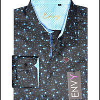 Envy Men's Long Sleeve Button Down Fashion Dress Shirt 51001-02