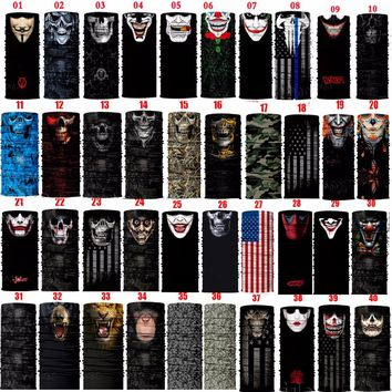 Sun Mask Skull Face Shield Balaclava Gaiter Neckerchief Outdoor Hunting Sale-Seller Male 2017