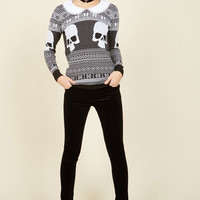 The Skully and the Ivy Knit Sweater | Mod Retro Vintage Sweaters | ModCloth.com