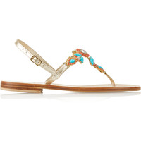 Musa - Embellished leather sandals