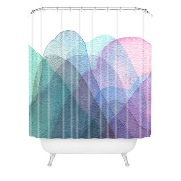 Elena Blanco Layers Shower Curtain