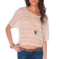 Whodun-Knit Top in Beige :: tobi
