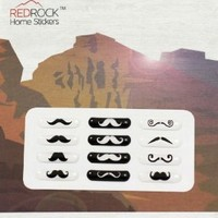 Mustache Designs 12 Pieces Home Button Stickers for Samsung S III S3 Galaxy i9300