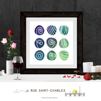 9 Circles Printable Art Zen Art Home Decor Modernist Wall Art Minimalist Art Print Instant downloadable art print geometric art prints