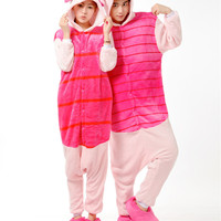 Thick Soft Flannel Piglet Pig Onesuit Pajama Cosplay Costume Halloween Carnival Party Clothing