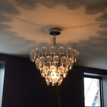Modern Mid Century Large Light Bulb Chandelier
