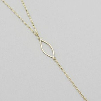 Womens Jewelry, Gold Tone 3D Pointy Diamond Shaped Drop Necklace. Size : 16 Inch with 3 Inch Extender.