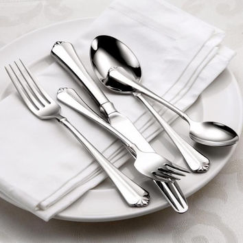 Oneida Juilliard 46 Piece Fine Flatware Set, Service for 8