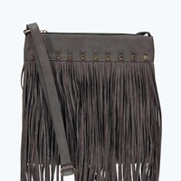 Olivia Fringed Stud Detail Cross Body Bag